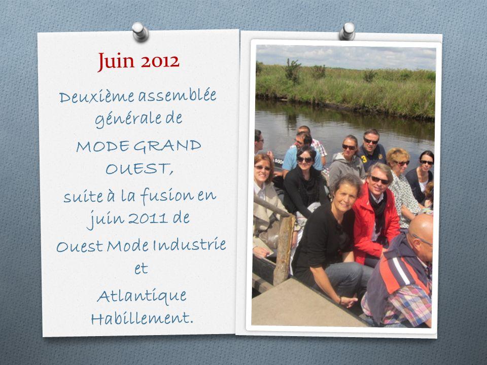 Juin 2012 Deuxième assemblée générale de MODE GRAND OUEST, suite à la fusion en juin 2011 de Ouest Mode Industrie et Atlantique Habillement.