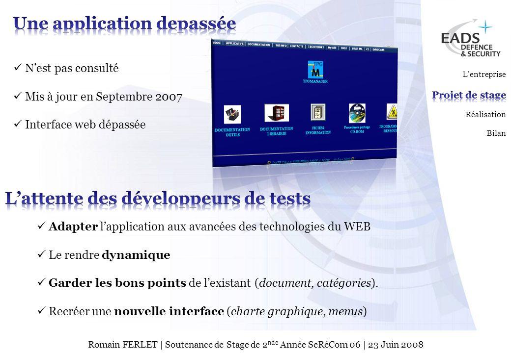 EADS TEST & SERVICES TSPage 6 © Copyright EADS TEST & SERVICES 2007 Romain FERLET | Soutenance de Stage de 2 nde Année SeRéCom 06 | 23 Juin 2008