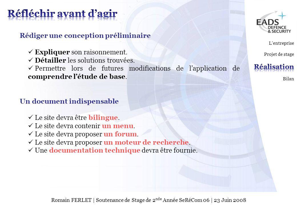 EADS TEST & SERVICES TSPage 9 © Copyright EADS TEST & SERVICES 2007 Romain FERLET | Soutenance de Stage de 2 nde Année SeRéCom 06 | 23 Juin 2008 Se rendre sur le site Site de Secours