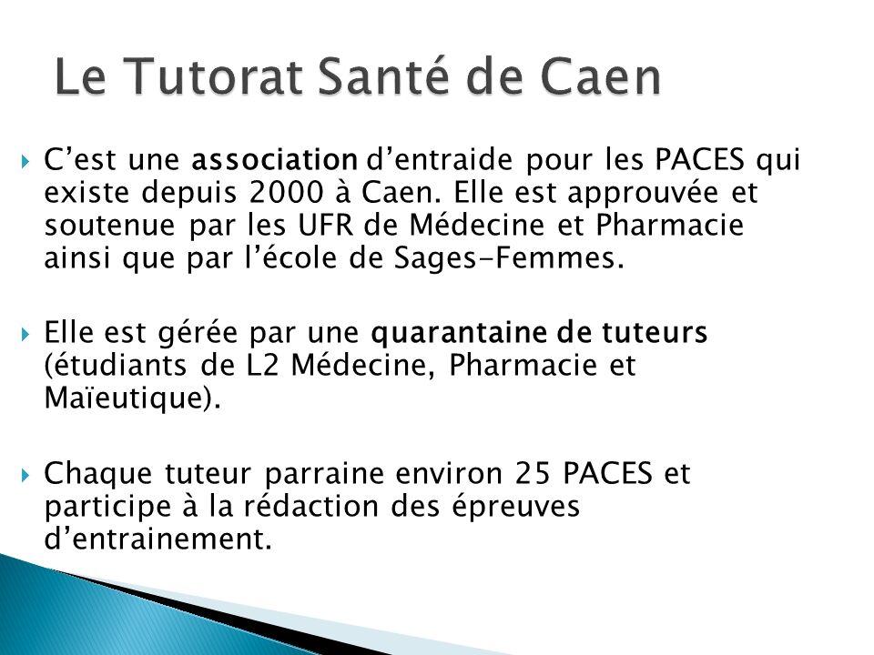 Cest une association dentraide pour les PACES qui existe depuis 2000 à Caen. Elle est approuvée et soutenue par les UFR de Médecine et Pharmacie ainsi