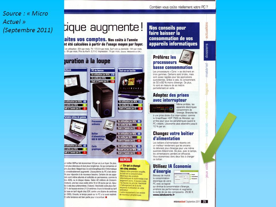 Source : « Micro Actuel » (Septembre 2011)