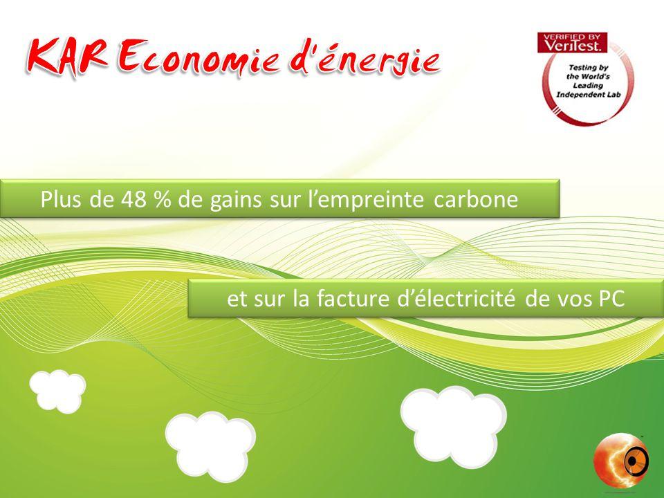 Plus de 48 % de gains sur lempreinte carbone et sur la facture délectricité de vos PC
