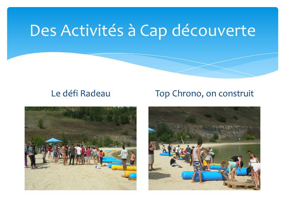 Des Activités à Cap découverte Le défi RadeauTop Chrono, on construit