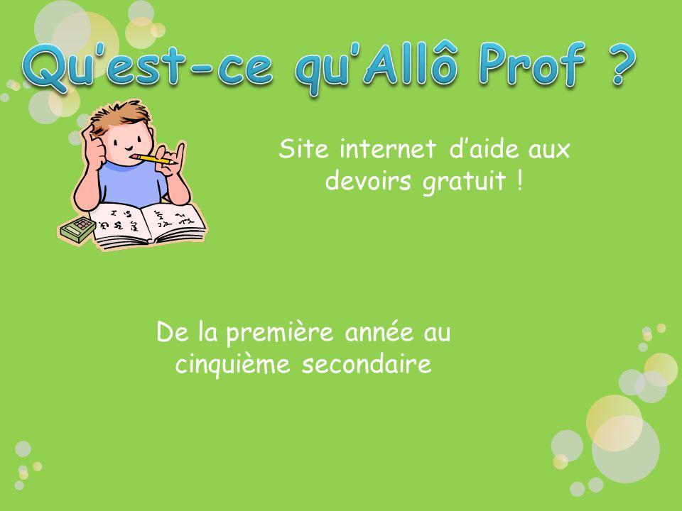 Site internet daide aux devoirs gratuit ! De la première année au cinquième secondaire