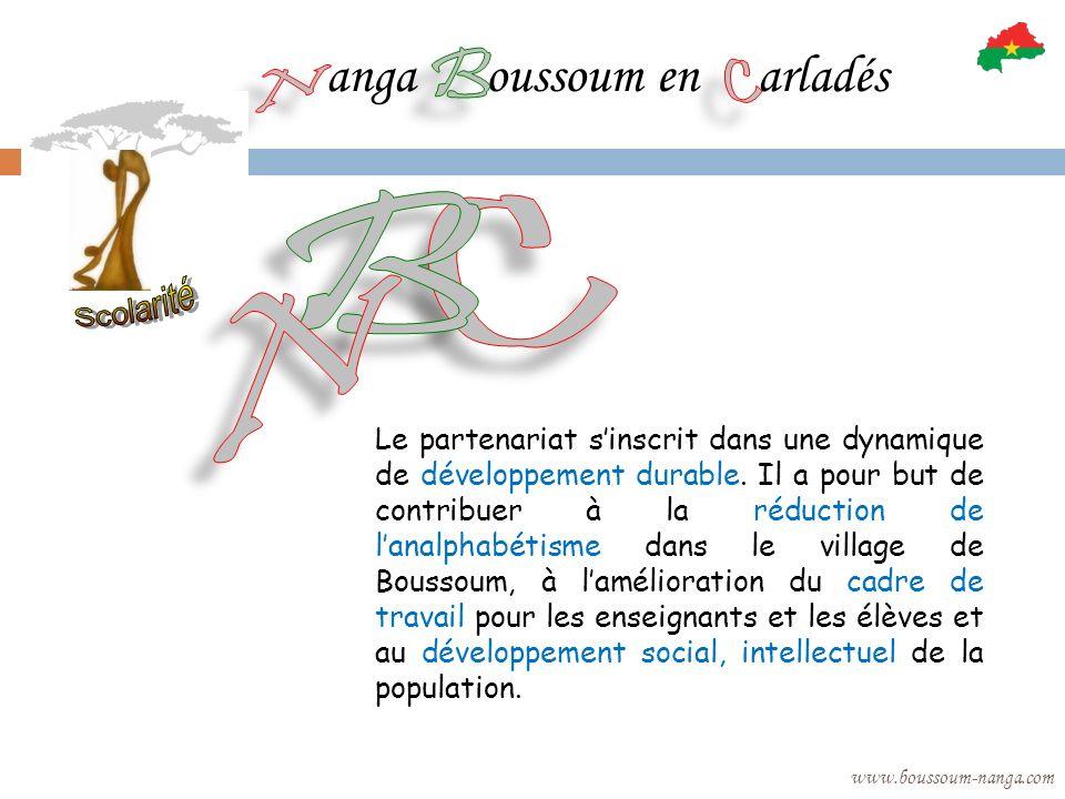 anga oussoum en arladés www.boussoum-nanga.com Le partenariat sinscrit dans une dynamique de développement durable. Il a pour but de contribuer à la r
