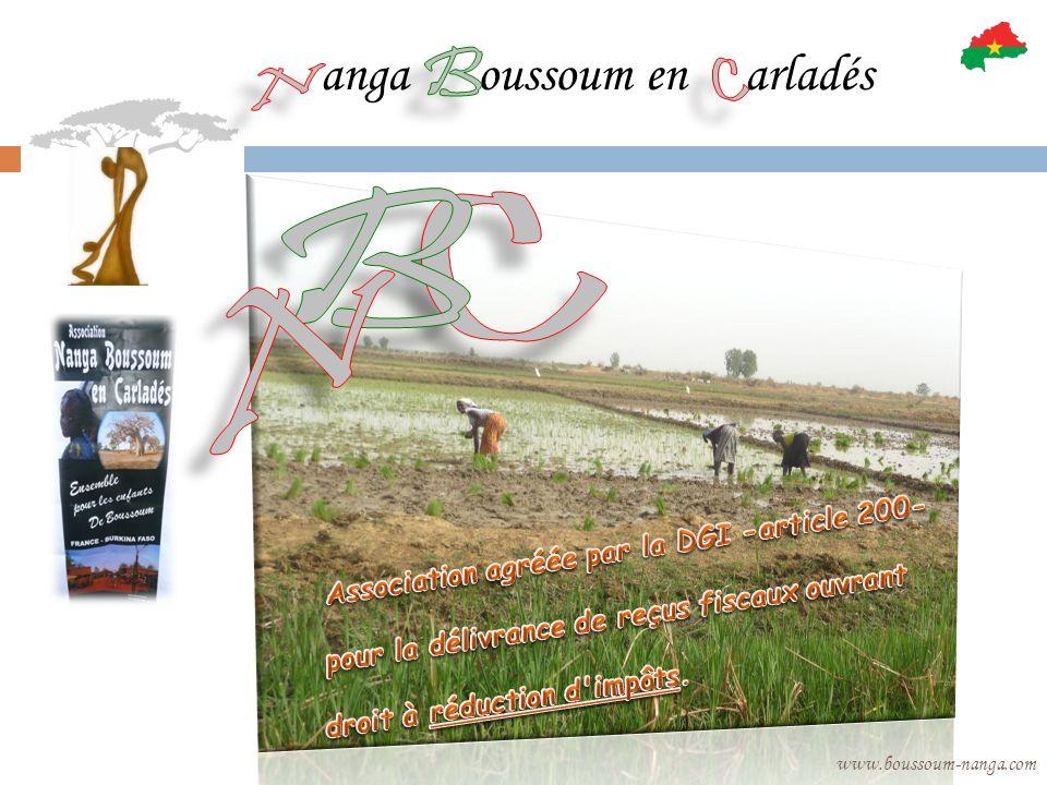 Dans ce cadre, lAssociation « Nanga, Boussoum en Carladès » sengage à : respecter le vieil adage « Au lieu de te donner du poisson, je tapprends à pêcher », ce qui suppose un comportement daccompagnement et non dassistanat dans le cadre du partenariat.