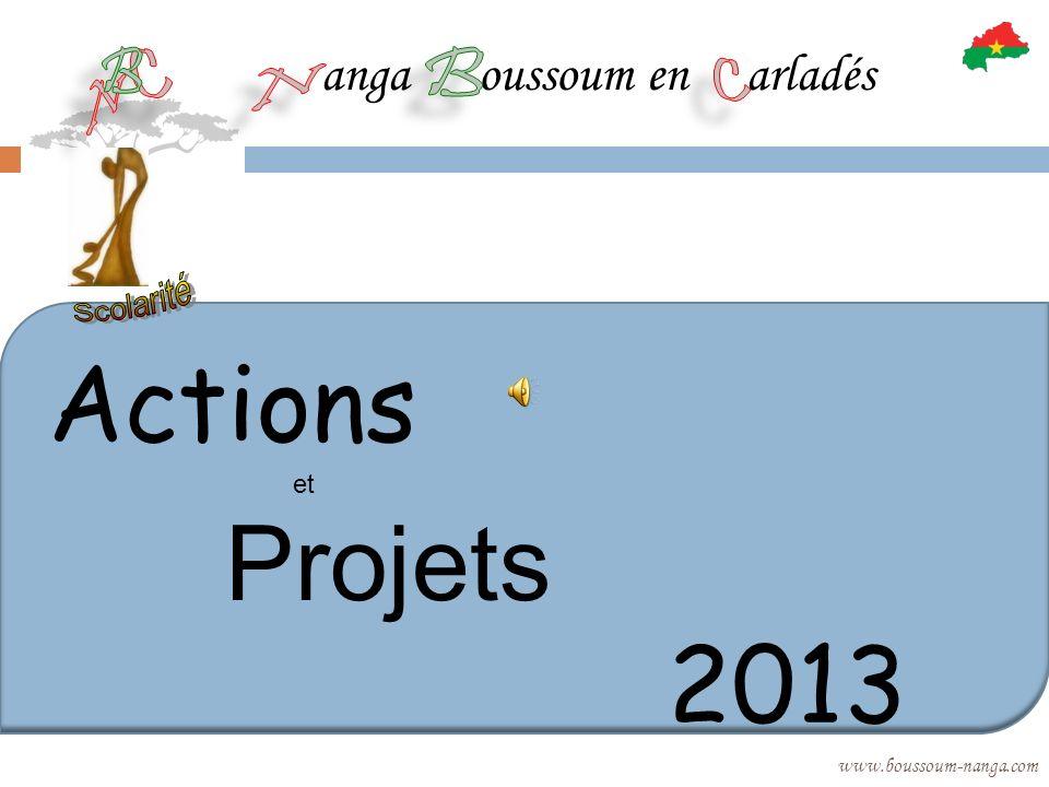 anga oussoum en arladés www.boussoum-nanga.com Actions et Projets 2013