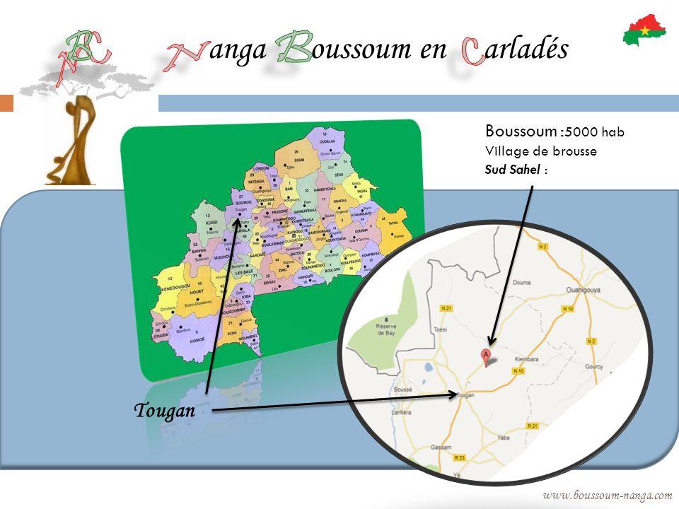 anga oussoum en arladés www.boussoum-nanga.com Tougan Boussoum : 5000 hab Village de brousse Sud Sahel :