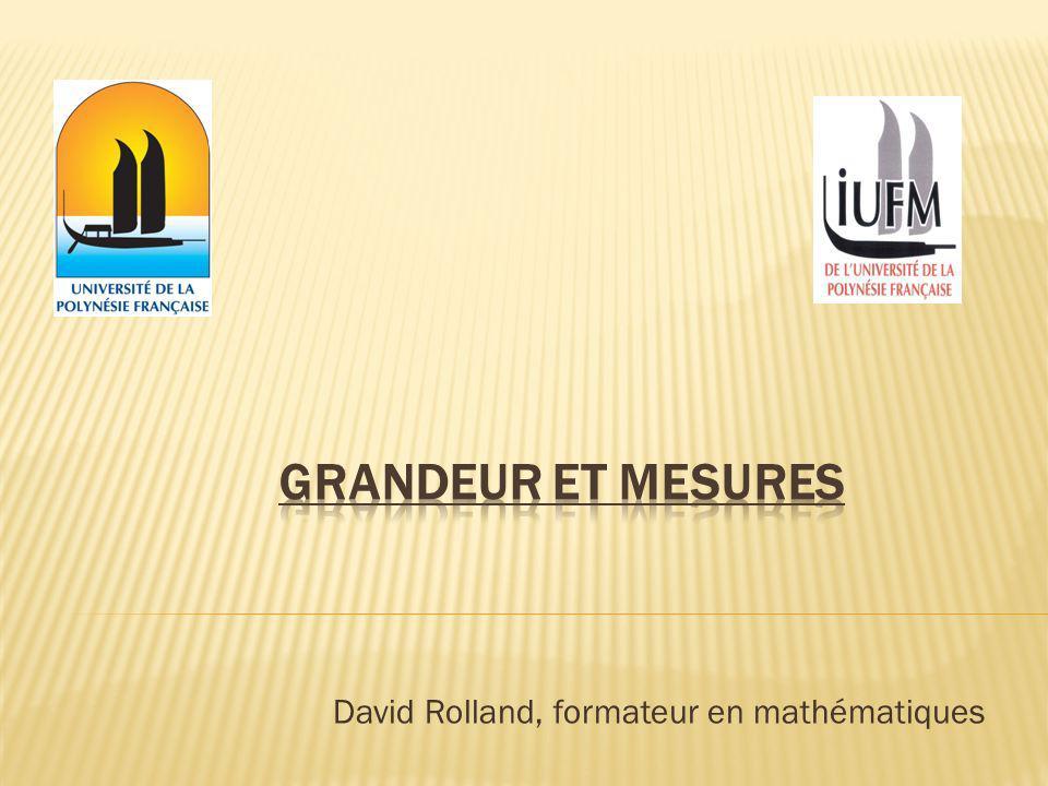 Les contenus mathématiques de ce paragraphe mettent en relation trois notions différentes : La surface (objet géométrique) Laire (grandeur) La mesure (nombre).
