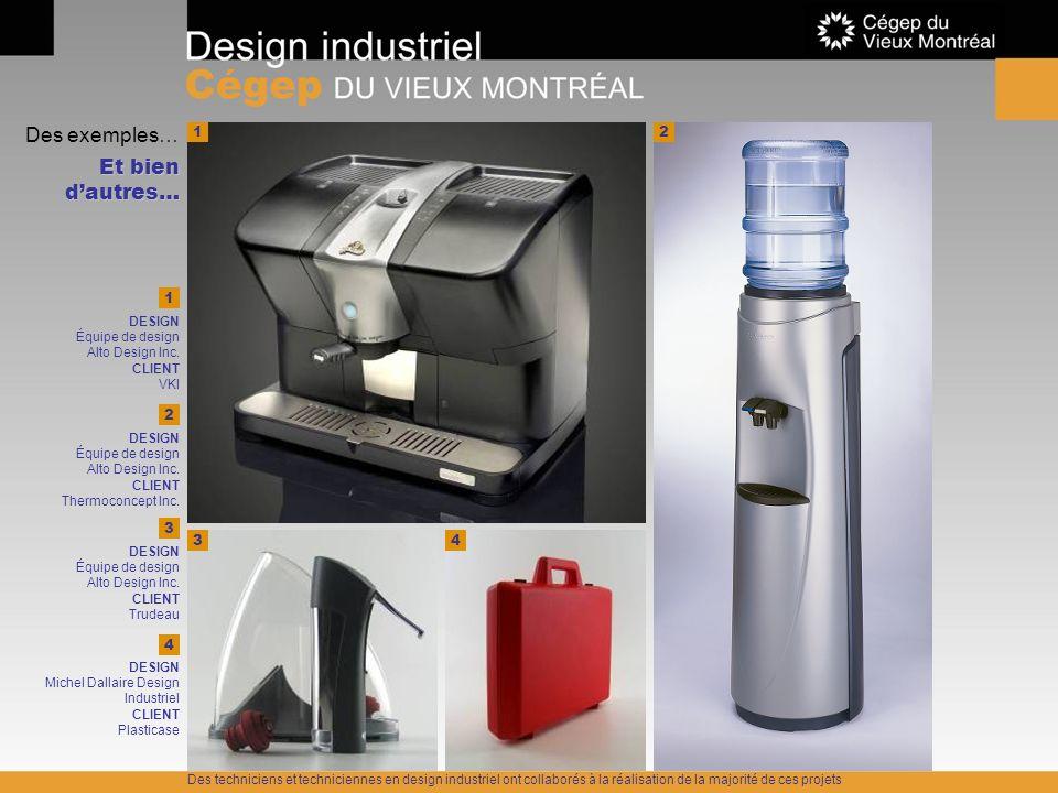 Des exemples… Et bien dautres… 12 43 1 DESIGN Équipe de design Alto Design Inc. CLIENT VKI 2 DESIGN Équipe de design Alto Design Inc. CLIENT Thermocon