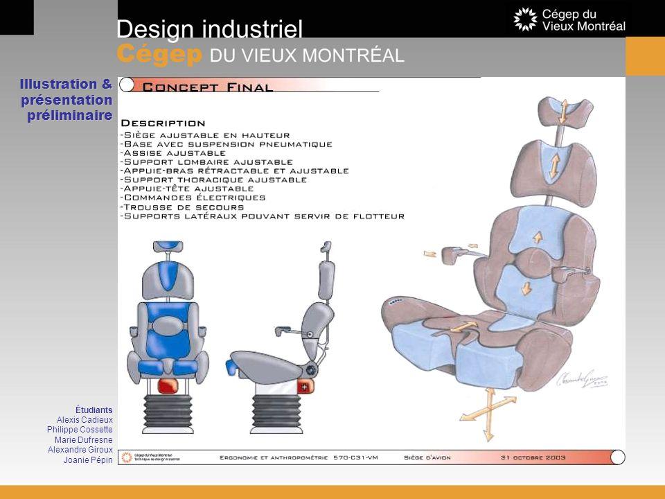Illustration & présentation préliminaire Étudiants Alexis Cadieux Philippe Cossette Marie Dufresne Alexandre Giroux Joanie Pépin