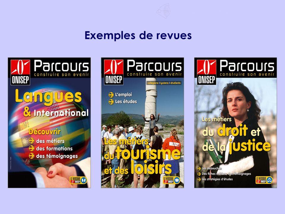 Après le Bac ES Choisir un domaine 2/7 Exemples de revues