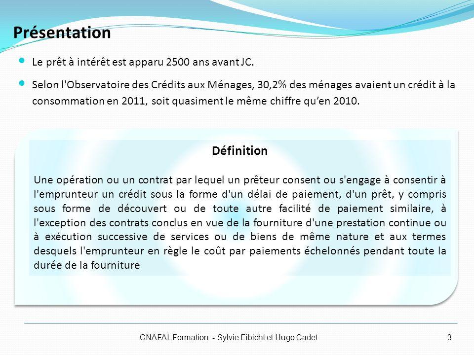 Regroupements de crédits CNAFAL Formation - Sylvie Eibicht et Hugo Cadet Regroupement mixte (crédits à la consommation et crédits immobiliers) Les crédits immobiliers représentent 60% au maximum du montant total de lopération de regroupement de crédit Même si le montant global des crédits regroupés est supérieur à 75 000 euros Remboursement de crédits à la consommation Régime du crédit à la consommation (articles L.311-1 et suivants du Code de la consommation Regroupement de crédits immobiliers Règles du crédit immobilier (articles L.312 et suivants du Code de la consommation) Regroupements de crédits Regroupement de plusieurs crédits renouvelables Ce sont les règles du crédit à la consommation qui sappliqueront Si le montant des crédits immobiliers est supérieur à 60% Cest le régime du crédit immobilier qui sappliquera Le nouveau prêteur rembourse directement le prêteur initial Si le regroupement porte sur la totalité du montant restant au titre du crédit renouvelable Pour que le contrat de crédit renouvelable soit éteint Le prêteur doit rappeler à lemprunteur sa faculté de résilier le contrat de crédit renouvelable initial 34