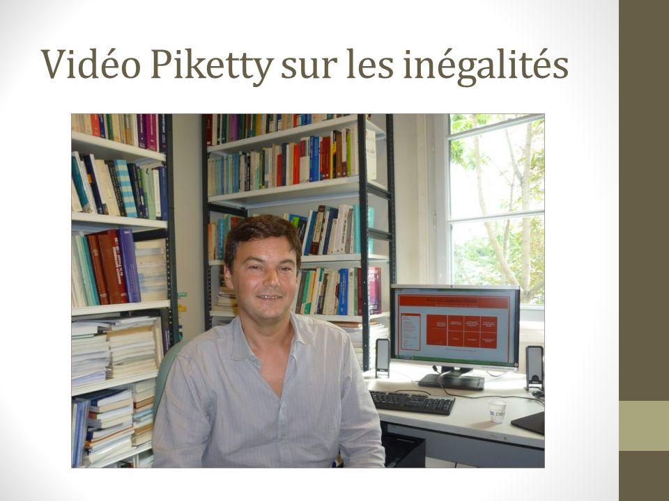 Vidéo Piketty sur les inégalités