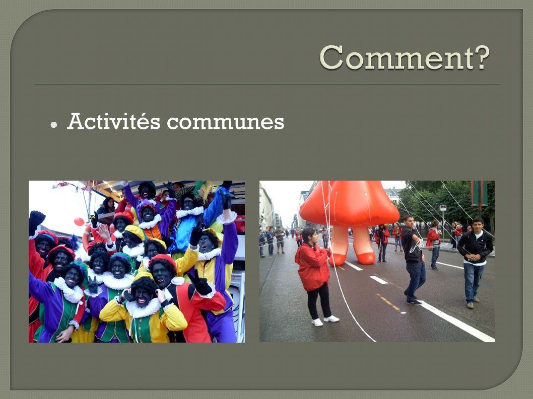 Activités communes