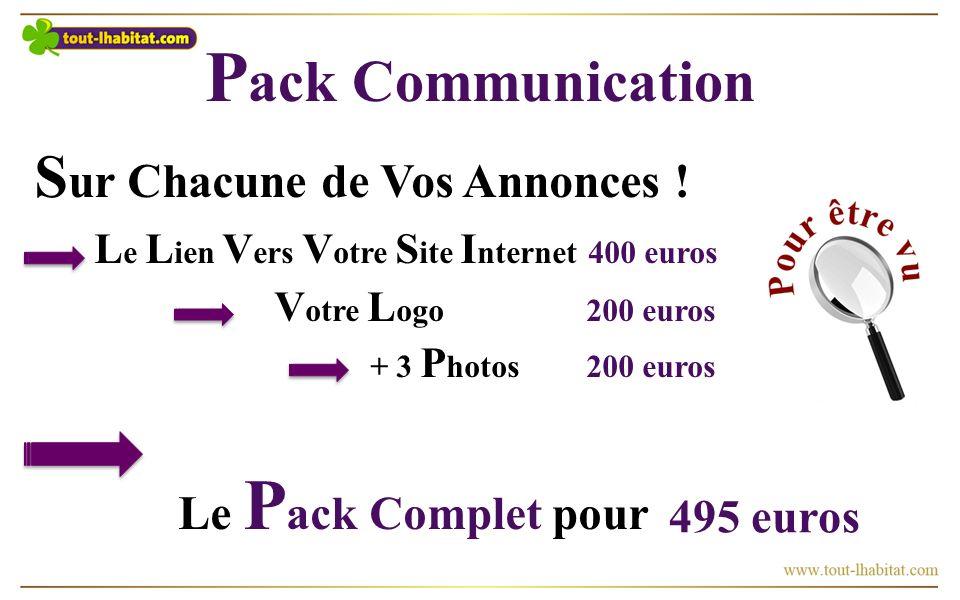 P ack Communication S ur Chacune de Vos Annonces .