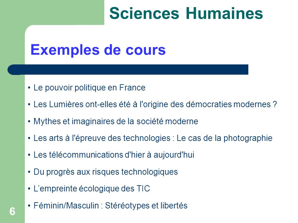6 Exemples de cours Sciences Humaines Le pouvoir politique en France Les Lumières ont-elles été à l origine des démocraties modernes .