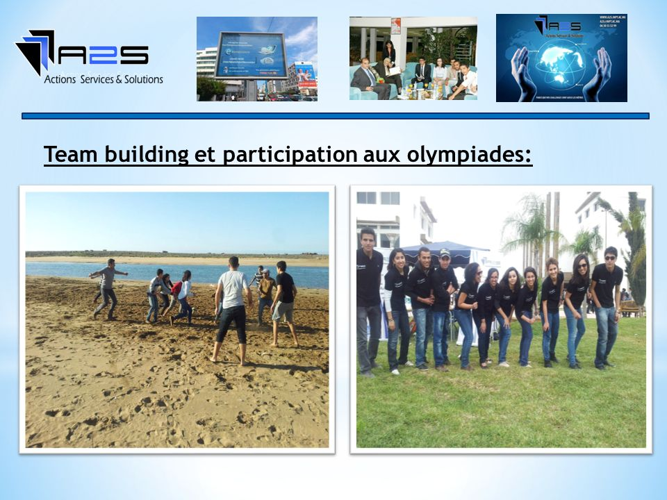 Team building et participation aux olympiades: