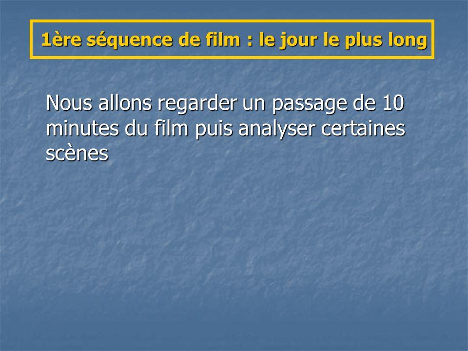 1ère séquence de film : le jour le plus long Nous allons regarder un passage de 10 minutes du film puis analyser certaines scènes