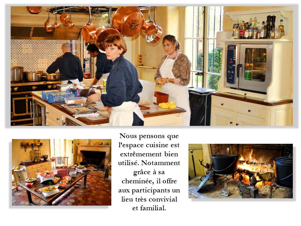 Nous pensons que lespace cuisine est extrêmement bien utilisé.