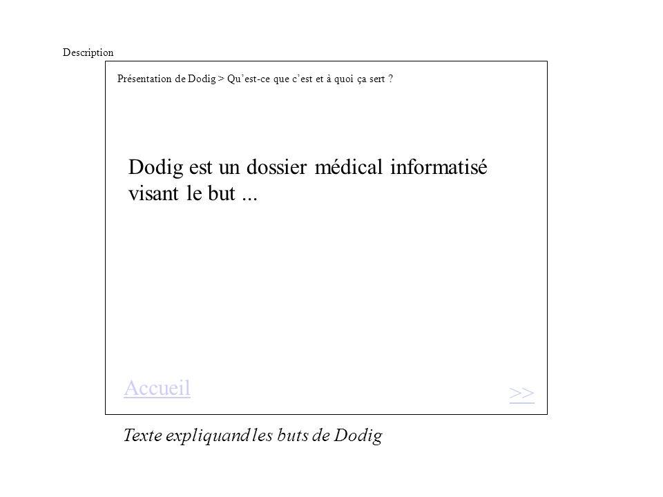 Description Dodig est un dossier médical informatisé visant le but...