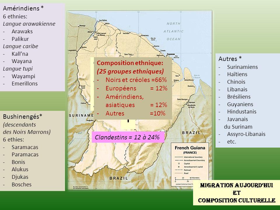 Migration Aujourd hui Et composition culturelle Europe, Amérique du Nord, Asie Guyana Surinam Brésil Amérique du Sud Haïtiens