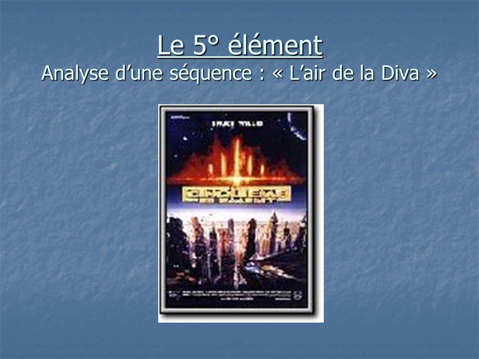 Le 5° élément Analyse dune séquence : « Lair de la Diva »