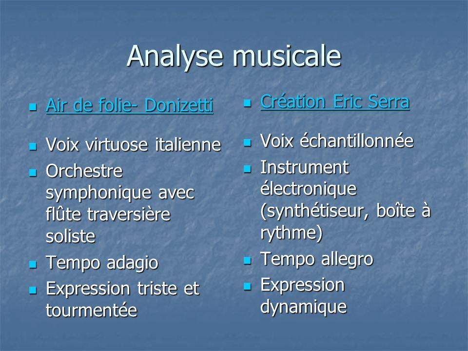 Analyse musicale Air de folie- Donizetti Air de folie- Donizetti Air de folie- Donizetti Air de folie- Donizetti Voix virtuose italienne Voix virtuose