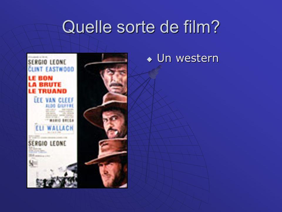 Quelle sorte de film? Un western Un western