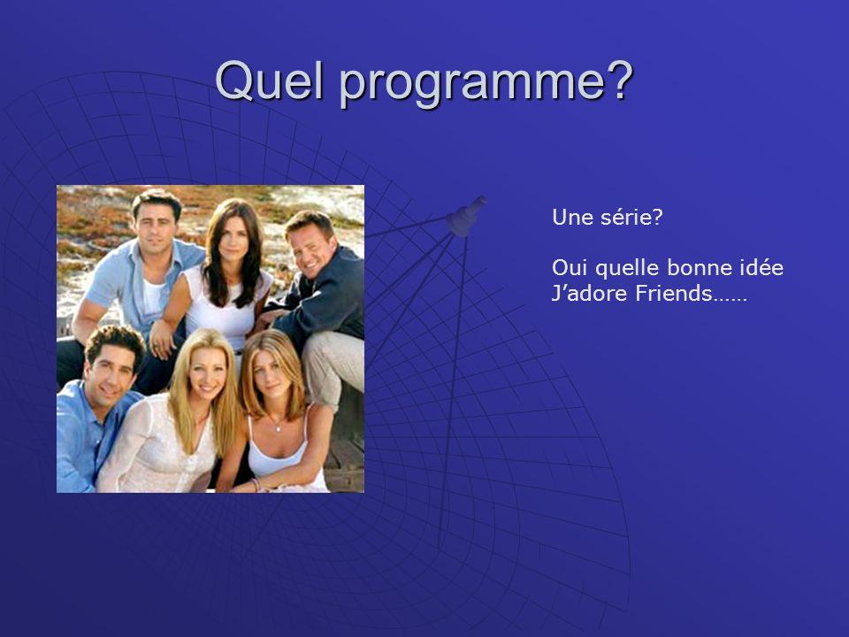 Quel programme? Une série? Oui quelle bonne idée Jadore Friends……