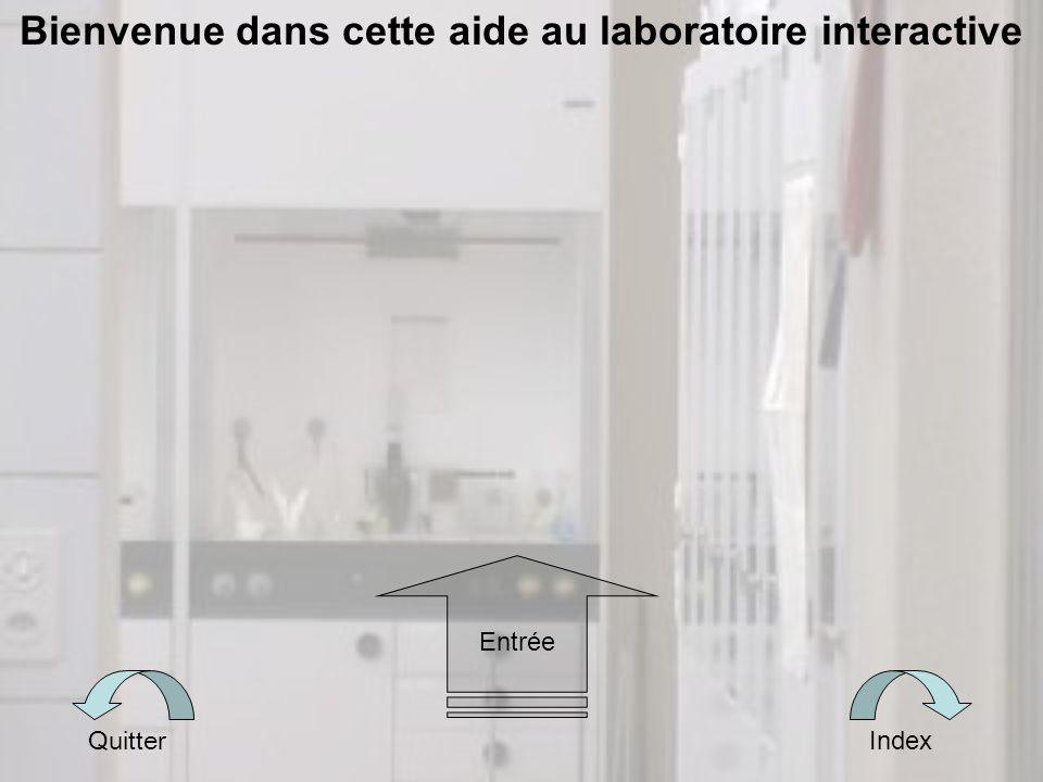Bienvenue dans cette aide au laboratoire interactive Quitter Index Entrée