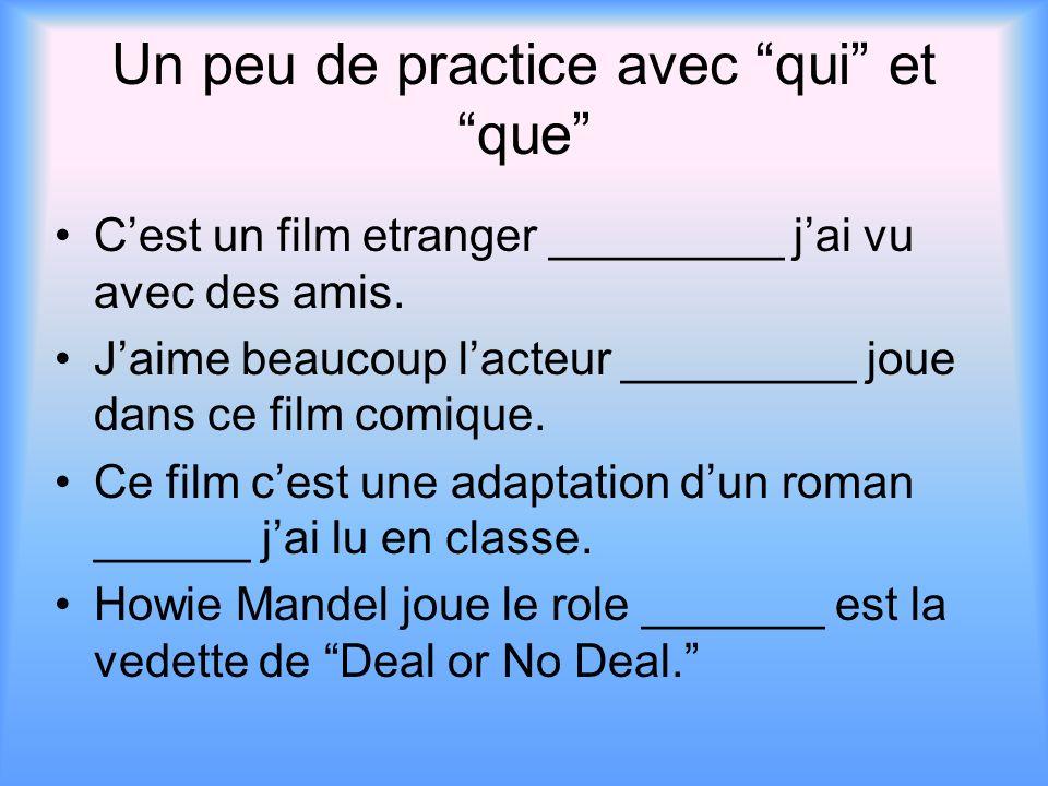 Le passé composé avec que If the passe compose follows que, the past participle will agree with the nounque represents.