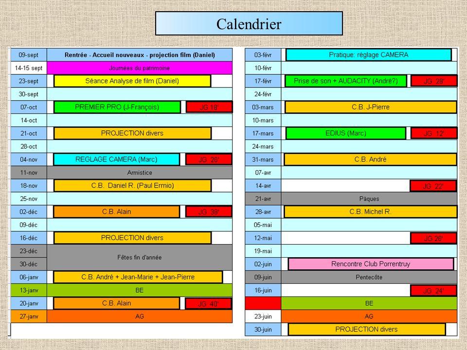 Les séances du club: 23-09-2013 Fin 07-10-2013 21-10-201318-11-2013 02-12-201316-12-201306-01-2014 20-01-201403-02-201417-02-2014 03-03-201417-03-201431-03-2014 28-04-201412-05-2014 02-06-201416-06-201430-06-2014 Les séances du bureau élargi: Séance 1 AG 01 AG 02 09-09-2013 04-11-2013 14-04-2014 16-0930-0914-10 11-11 09-12 25-11 13-01 10-03 10-02 24-03 05-05 07-04 19-05 09-06 28-10 24-02 21-04