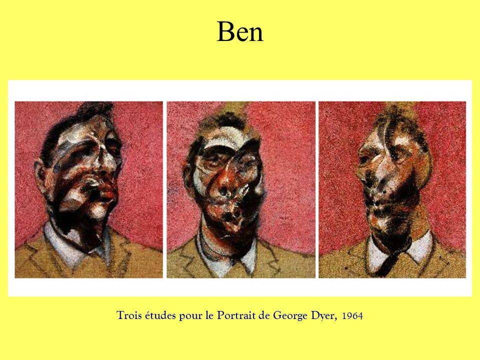 Ben Trois études pour le Portrait de George Dyer, 1964
