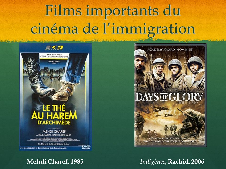 Films importants du cinéma de limmigration Mehdi Charef, 1985 Indigènes, Rachid, 2006