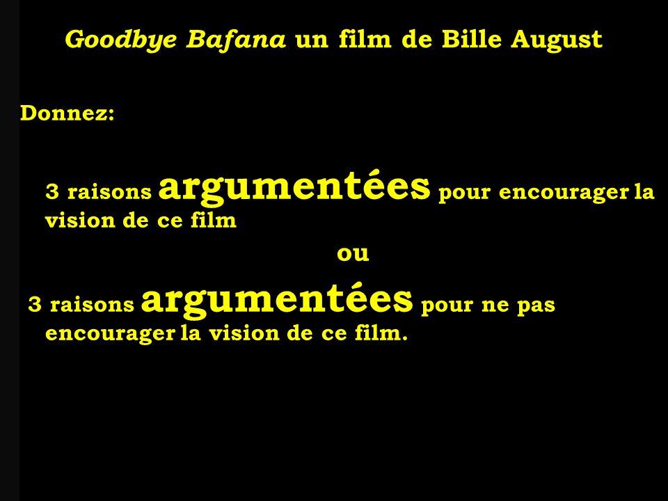 louis-jean Roparslouis-Jean ropars Donnez: 3 raisons argumentées pour encourager la vision de ce film ou 3 raisons argumentées pour ne pas encourager la vision de ce film.