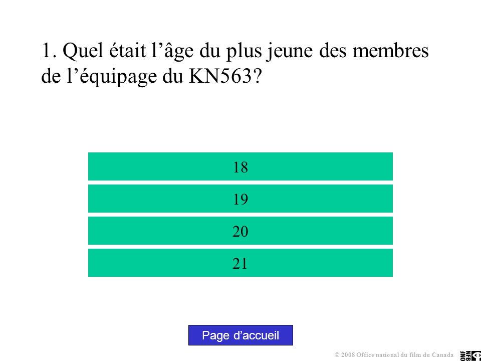 1.Quel était lâge du plus jeune des membres de léquipage du KN563.