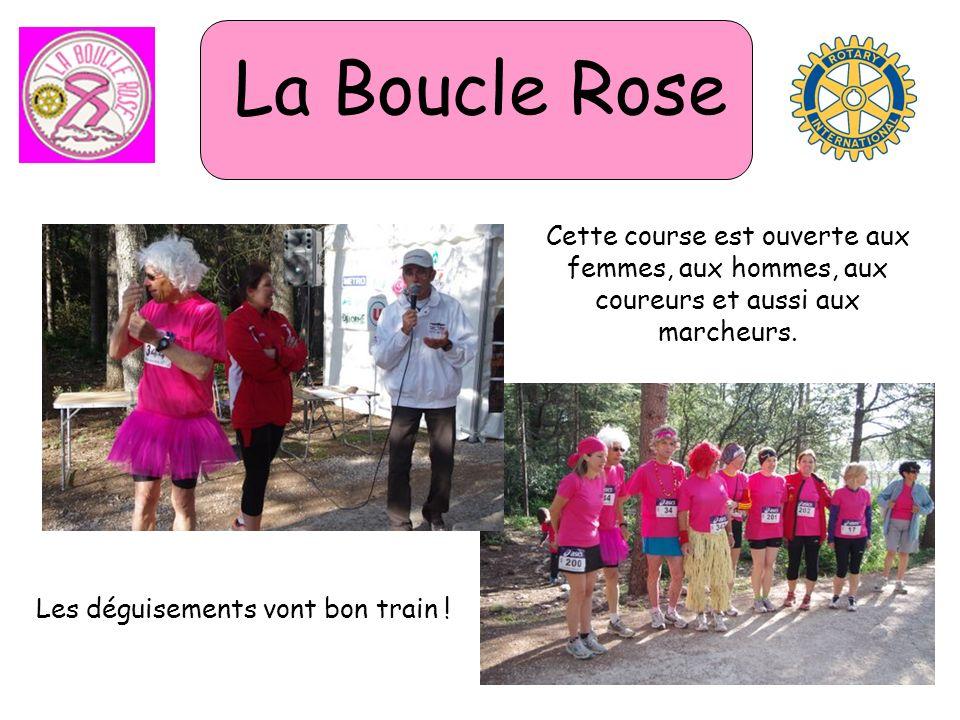 La Boucle Rose Cette course est ouverte aux femmes, aux hommes, aux coureurs et aussi aux marcheurs. Les déguisements vont bon train !