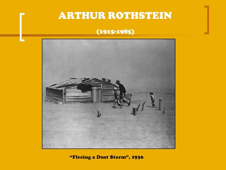 ARTHUR ROTHSTEIN (1915-1985) Fleeing a Dust Storm, 1936