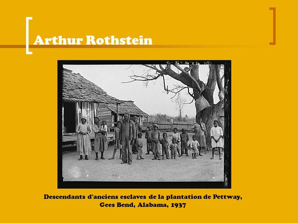Arthur Rothstein Descendants d'anciens esclaves de la plantation de Pettway, Gees Bend, Alabama, 1937