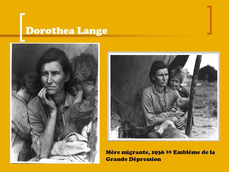 Dorothea Lange Mère migrante, 1936 >> Emblème de la Grande Dépression