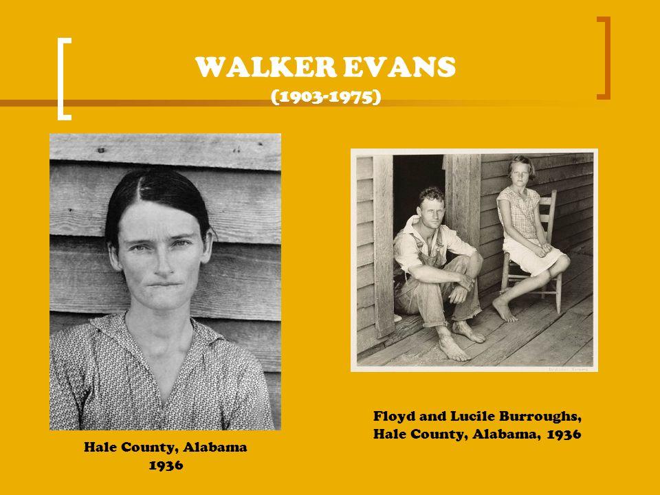 WALKER EVANS (1903-1975) Hale County, Alabama 1936 Floyd and Lucile Burroughs, Hale County, Alabama, 1936