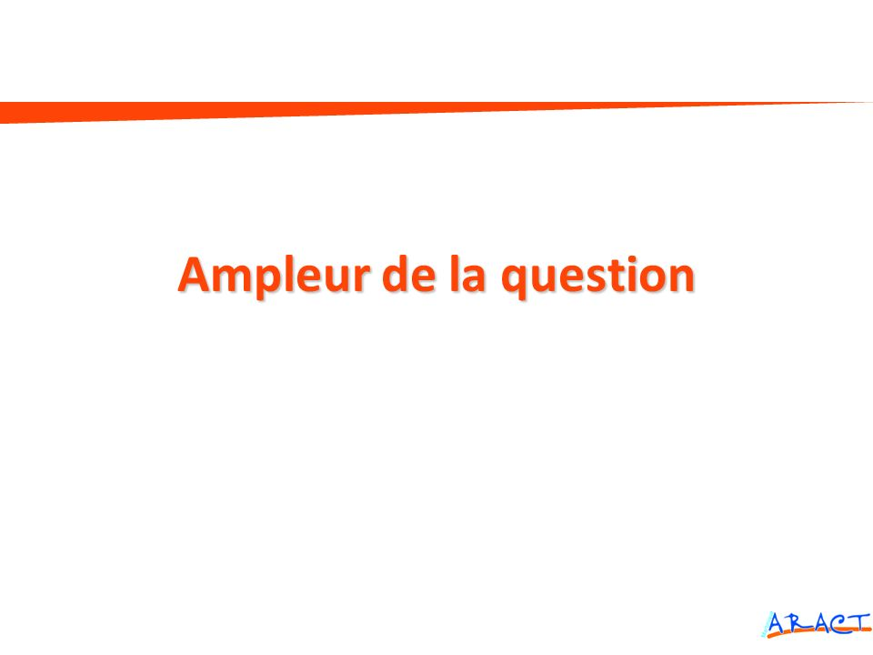 Ampleur de la question