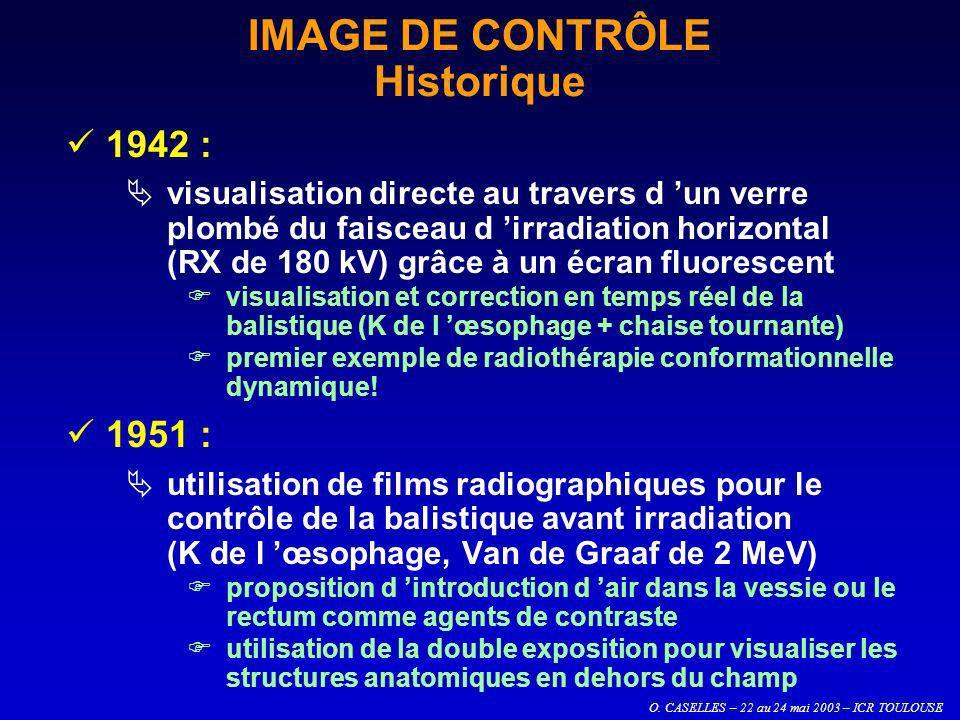 O. CASELLES – 22 au 24 mai 2003 – ICR TOULOUSE IMAGE DE CONTRÔLE Historique 1942 : visualisation directe au travers d un verre plombé du faisceau d ir