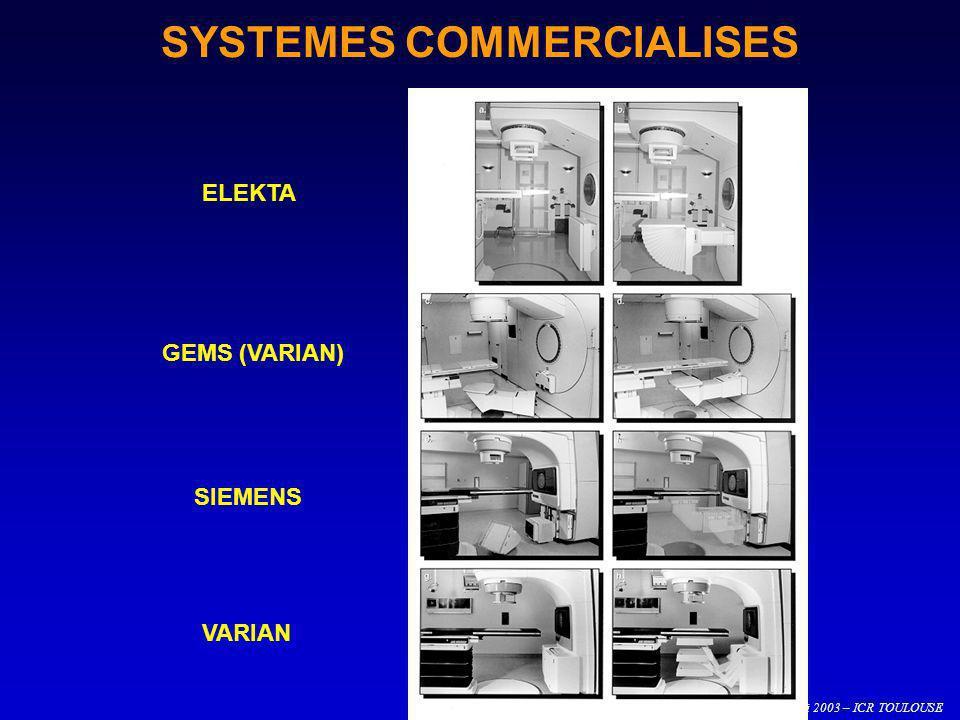 O. CASELLES – 22 au 24 mai 2003 – ICR TOULOUSE SYSTEMES COMMERCIALISES ELEKTA GEMS (VARIAN) SIEMENS VARIAN