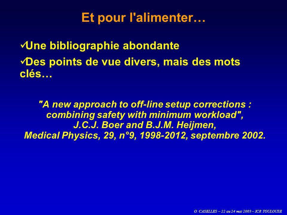O. CASELLES – 22 au 24 mai 2003 – ICR TOULOUSE Et pour l'alimenter… Une bibliographie abondante Des points de vue divers, mais des mots clés…