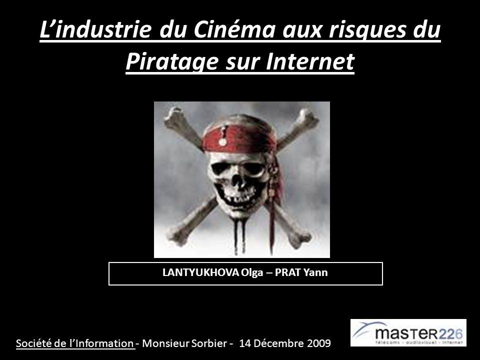 Lindustrie du Cinéma aux risques du Piratage sur Internet Société de lInformation - Monsieur Sorbier - 14 Décembre 2009 LANTYUKHOVA Olga – PRAT Yann