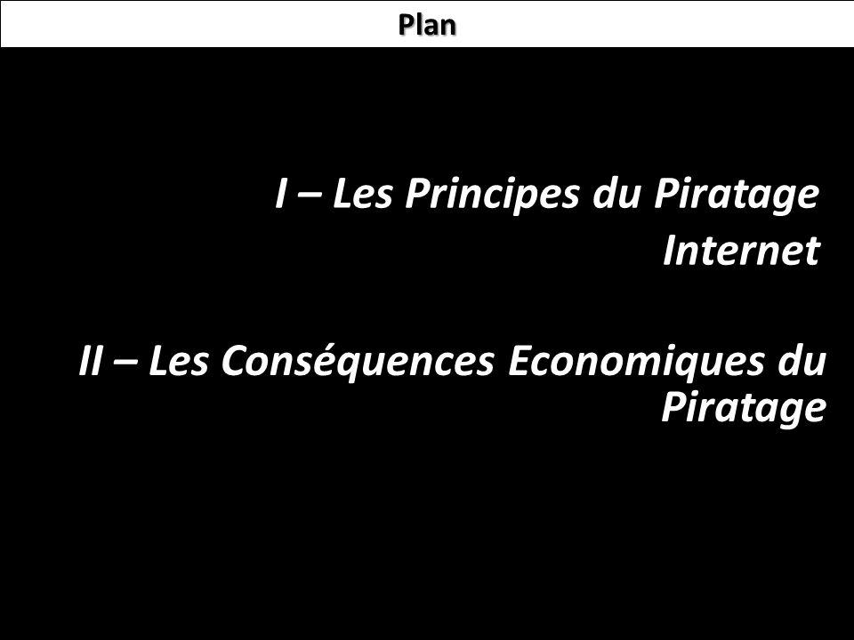 I – Les Principes du Piratage Internet II – Les Conséquences Economiques du Piratage Plan