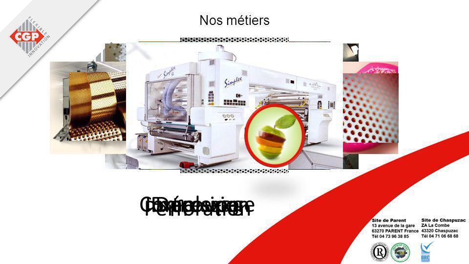Extrusion Complexage DécoupeImpression Perforation Nos métiers