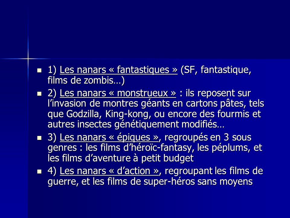 1) Les nanars « fantastiques » (SF, fantastique, films de zombis…) 1) Les nanars « fantastiques » (SF, fantastique, films de zombis…) 2) Les nanars «